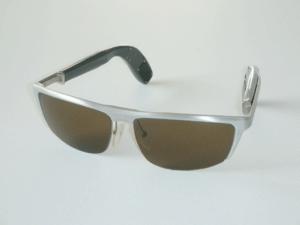 occhiali acustici unisex modello sportivo da sole
